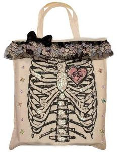 Pretty canvas tote bag Handmade eco designs by PopLoveCouture