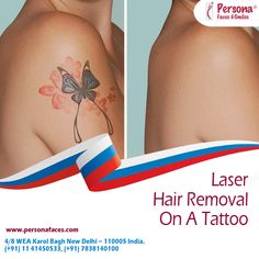 Laser Hair Removal is one of the best and most efficient way to remove hair from the body. However, if you have a tattoo, can you still get #LaserHairRemoval at #Persona