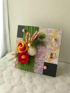 New Years Decorations, Handmade Decorations, Christmas Decorations, Diy And Crafts, Arts And Crafts, Paper Crafts, Diy Flowers, Paper Flowers, Japanese New Year