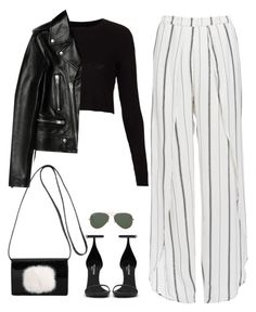 """Untitled #85"" by simonakolevaa ❤ liked on Polyvore featuring Faithfull, Topshop, Yves Saint Laurent and Ray-Ban"