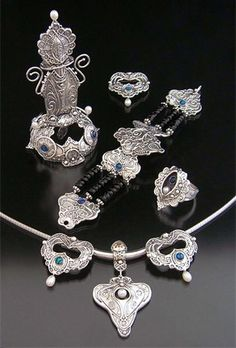 Intricate  Silver Clay jewelry