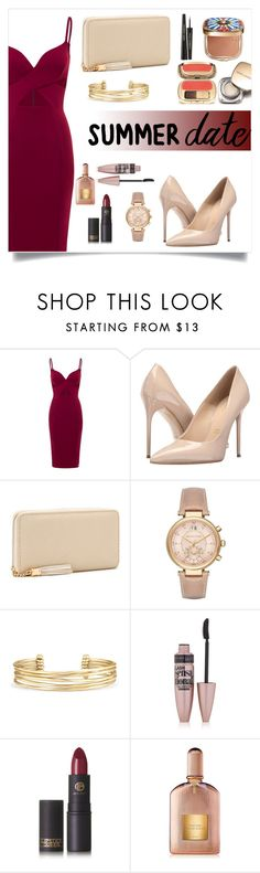 """""""Untitled #242"""" by rena-veloni on Polyvore featuring Massimo Matteo, Michael Kors, Stella & Dot, Maybelline, Lipstick Queen, Tom Ford and Dolce&Gabbana"""