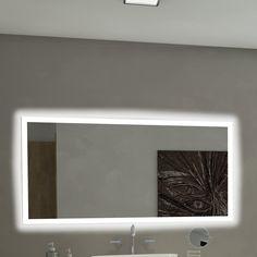Found it at Wayfair - Rectangle Backlit Bathroom / Vanity Wall Mirror Vanity Wall Mirror, Contemporary Bathroom Vanity, Mirrors Wayfair, Mirror Wall, Lighted Vanity Mirror, Rectangle Mirror, Beautiful Mirrors, Horizontal Mirrors, Backlit Mirror