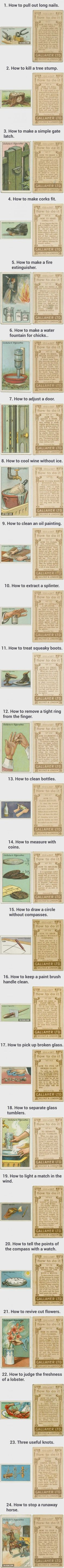 24 Life Hacks From 100 Years Ago That Are Still Useful In Today's Society