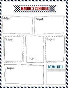Printable homework assignment sheets