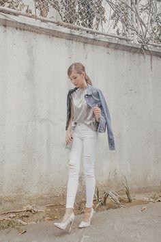 Get this look: http://lb.nu/look/8174717  More looks by Tricia Gosingtian: http://lb.nu/tgosingtian  Items in this look:  Mango Top, Mango Pants, Mango Bag, Mango Jacket   #edgy #grunge #street #newmetallics #mangogirls