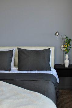 Bachelor Pad - Bedroom - eclectic - bedroom - other metro - Frisson BM Tundra Dark Gray Bedroom, Gray Bedroom Walls, Bedroom Colors, Grey Walls, Bedroom Decor, Master Bedroom, Bedroom Ideas, Grey Bedrooms, Bedroom Photos