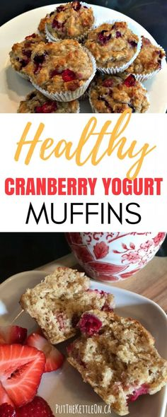 These healthy cranberry yogurt muffins are filled with oatmeal and are a staple in our house. They are also super EASY to make, perfect for holiday baking and to have for breakfast on the go or a healthy snack. Get the recipe. Healthy Food Blogs, Healthy Baking, Healthy Snacks, Healthy Kids, Healthy Breakfast Muffins, Breakfast On The Go, Cranberry Recipes Healthy, Healthy Recipes, Cranberry Breakfast Recipes