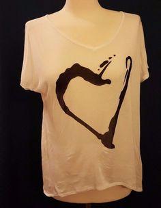 214a50aeb73 Short Sleeve Graphic Tee Heart Regular S T-Shirts for Women