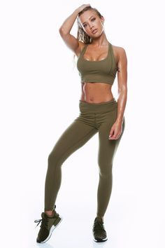 d44d3f0540190 Khaki Mid Waist Leggings. Made to provide the support where you need it