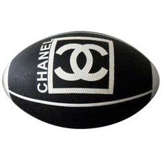 Chanel Grained Rubber Ball 2007, H 10 in. Dm 7.5 in. - $980