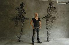 Metal Ballerina Sculptures