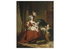 """""""Marie Antoinette and her Children"""" - Louise Elisabeth Vigee Le Brun Palace of Versailles, France. Most important female painter of - portrait painter to Marie Antoinette. French History, Art History, History Facts, History Class, Marie Antoinette Children, Trianon Versailles, French Royalty, Maria Theresa, Elisabeth"""