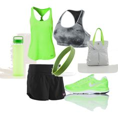 Athletic Slytherin by gmarie729 on Polyvore featuring Under Armour, NIKE and Forever 21