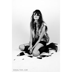 Rock Chic Fashion Photography shoot ❤ liked on Polyvore featuring backgrounds, people, models, photos and black and white