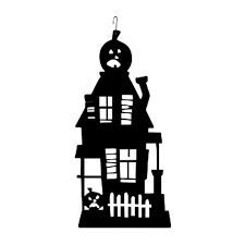 """Our decorative wrought iron Haunted House Silhouette features a durable baked on powder coat finish for years of great looks. It measures W x """" 17 H. Wrought iron decor fits well in a variety of settings from rustic to contemporary. Haunted House Decorations, Halloween Haunted Houses, Halloween House, Spirit Halloween, Halloween Decorations, Halloween Ideas, Halloween Quilts, Halloween Goodies, Halloween Birthday"""