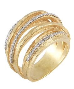 I. Reiss Arch Twisted Ring Diamond Ring @Jeweler's Touch