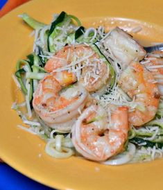 Shrimp Scampi Zucchini Pasta | Enjoy this scampi dish that features a delicious alternative to traditional pasta!