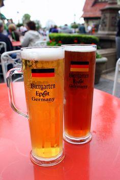 Beer in Germany. A super liquid lunch. Epcot, Walt Disney World.
