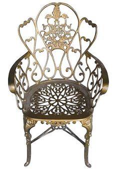 Cadeira Floral em Alumínio Fundido - Cód 1710 - Bancos - Alumínio Fundido…