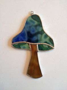 Stained Glass Mushroom Suncatcher by QTSG on Etsy
