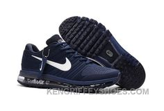 brand new 26a88 14865 Authentic Nike Air Max 2017 KPU Navy White Free Shipping EhThFFE