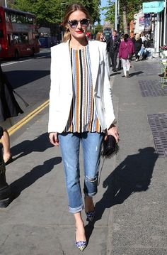 Olivia Palermo Wears Her Zara Top for the Second Time in a Row via @WhoWhatWear