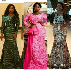 Outfits by Teekayfashion Nigerian Lace Styles, African Lace Styles, African Lace Dresses, Ankara Dress Styles, African Fashion Dresses, African Attire, African Wear, African Women, African Print Fashion