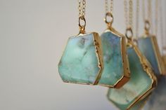 MINT /// Chrysoprase Necklace /// 24kt Gold by luxdivine on Etsy