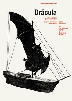 Dracula. Theatre Play poster. Isidro Ferrer.