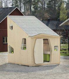 Logement étudiant entièrement construit en bois recyclé.