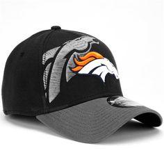 the latest 77868 8a73d New Era Denver Broncos 39Thirty Classic Flex Hat - Black