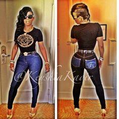 KEYSHIA KAOIR wearing VERSACE Outfit – Hosting FASHION SHOW in MIAMI