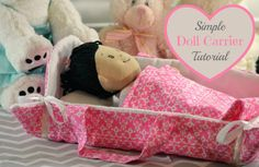 Simple Doll Carrier Sewing Tutorial. This is a great sewing project for beginners! No pattern, just simple, easy to understand steps to help you create an adorable doll carrier for any little girl in your life