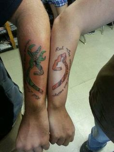 Buck and Doe tattoos