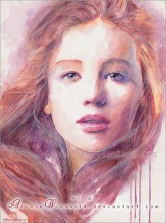 I talk to the wind - Jennifer Lawrence by AuroraWienhold on deviantART   | First pinned to Celebrity Art board here... http://www.pinterest.com/fairbanksgrafix/celebrity-art/ #Drawing #Art #CelebrityArt