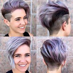 2017 Short Hairstyles Purple - 11