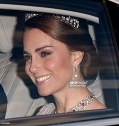 (EMBARGOED FOR PUBLICATION IN UK NEWSPAPERS UNTIL 48 HOURS AFTER CREATE DATE AND TIME) Catherine, Duchess of Cambridge attends a State Banquet at Buckingham Palace on day 1 of the Spanish State Visit on July 12, 2017 in London, England.  This is the first state visit by the current King Felipe and Queen Letizia, the last being in 1986 with King Juan Carlos and Queen Sofia. (Photo by Max Mumby/Indigo/Getty Images)