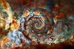 Carina nebula NASA circles nebulae outer space