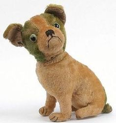 Antique Dog Toy, cute as a Button.