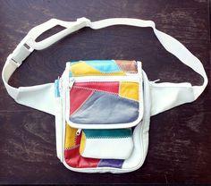 Vintage Patchwork Faux Leather Fanny Pack Bum Bag Waist Sunglasses/Coin Pouch Boho