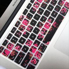 Macbook Keyboard Cover - Dark Floral