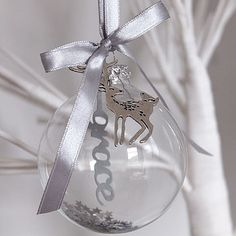 Personalised Papercut Glass Bauble