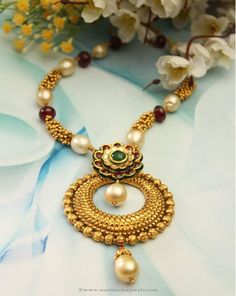 Designer Pearl Necklace, Gold Pearl Necklace Designs, Pearl Necklace Collections.