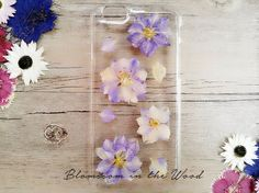 Natural Purple Floral Real Pressed Flower iPhone 6 Case, iPhone 6s Plus Case Clear, iPhone 6s Case, Clear iPhone 6s Case, iPhone 5s