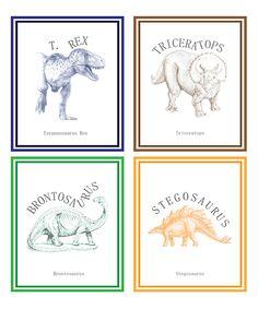Love this Classic Dinosaur Print - Set of Four by Children Inspire Design on #zulily! #zulilyfinds