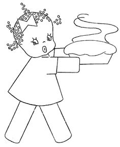 Free embroidery patterns - I remember embroidering this little girl when I was a little girl! She is just too cute!