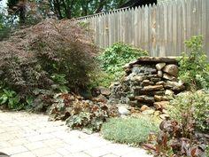 Garden waterfall itself build matching place