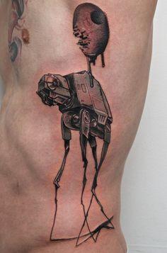 Dali tattoo, Star wars concept.
