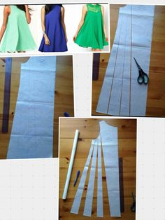 Flare dress how to make pattern.